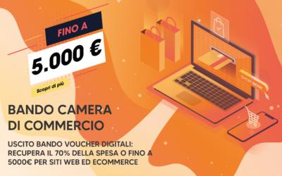 Uscito bando voucher digitali: recupera il 70% della spesa o fino a 5000€ per siti web ed e-commerce